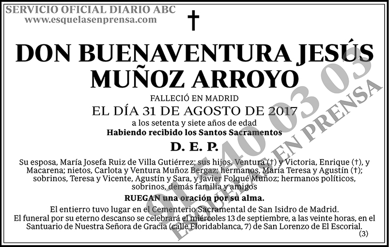 Buenaventura Jesús Muñoz Arroyo